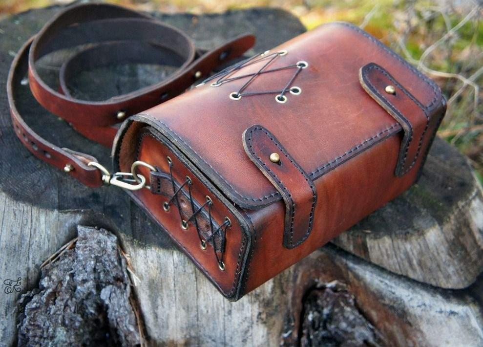 Кожаные сумки мужские своими руками 47