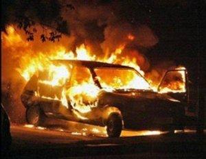 У кременчужанки сгорело авто с документами