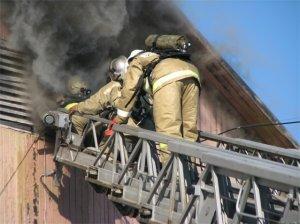 Пожар на Третьей Занасыпи: двое пострадавших
