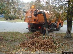 В Кременчуге 8 бригад убирают листья