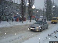 На выходные в Кременчуге прогнозируют снегопады и гололед