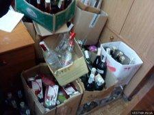 Налоговая милиция Кременчуга выявила склады с подпольным алкоголем