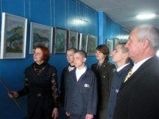 В кременчугской колонии открыли художественную выставку