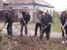 В Крюковском районе состоялся трудовой десант «Чистый дом»