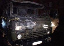 В Кременчуге сгорел КАМАЗ