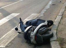 В Кременчуге скутерист попал в аварию