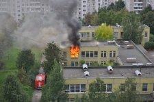 В Комсомольске горела школа