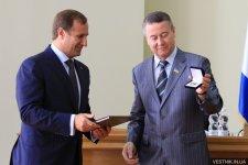 Мэр Кременчуга получил награду от Украинского Совета Мира