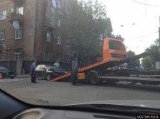 В центре Кременчуга легковушка Honda попала в аварию