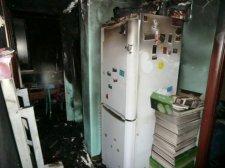 В доме № 40 на улице Красина загорелась квартира