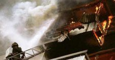 В Кременчуге на ул.Красноармейской горели балконы многоэтажки