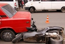 В кременчугском ДТП пострадал скутерист