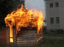 В Кременчуге произошел пожар в квартале 278