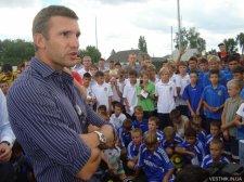 Андрей Шевченко учил кременчугских мальчишек, как играть в футбол
