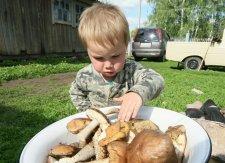Грибной сезон для полтавского малыша начался с реанимации