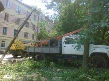 В Кременчуге непогода оборвала линии воздушных электросетей