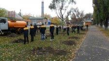 В Крюковском районе на Раковке высажено 70 деревьев