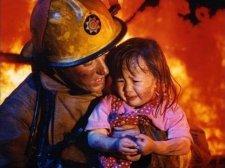 Маленькая девочка пострадала от огня