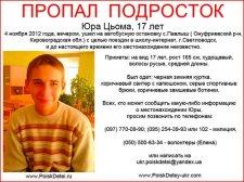 Помогите найти пропавшего подростка (фото)