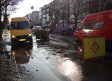 В Кременчуге на Пролетарской потоп