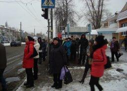 Первый снежок вызвал в Кременчуге транспортный коллапс