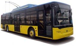 В Кременчуг приехали еще четыре новых троллейбуса ЛАЗ