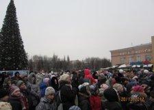 Главная елка Кременчуга засияла новогодними огнями