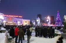 В Крюковском районе открыто елку на площади возле проходной ОАО «Крюковский вагоностроительный завод»