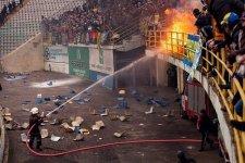 На стадионе «Ворскла» болельщики уничтожили четыре сектора