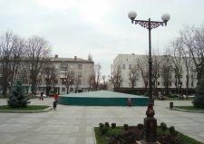 В Кременчуге «законсервировали» фонтан на Пентагоне