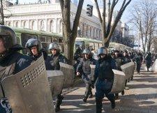 Силовики спешно покидают окрестности Рады (видео)