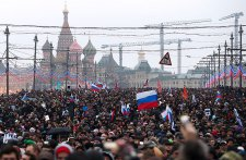 Траурное шествие в Москве не обошлось без задержаний