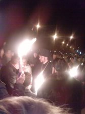 Благодатний вогонь з Єрусалиму в Кременчуці